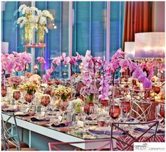 Orchid Centerpiece for Wedding   BBJ Linen