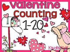 FREEBIE - Valentine Counting Math Center 1-20