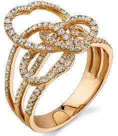 Diamond Ring, .85 Carat Diamonds on 18K Rose Gold