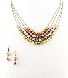 Also loving this Mixed Metal Pyramid Bead Layered Necklace Set by @inpinkstyle. WDYT cc @bravoerunway