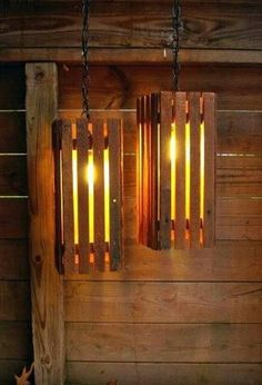 pallet light fixture | Made from pallets | For the Home