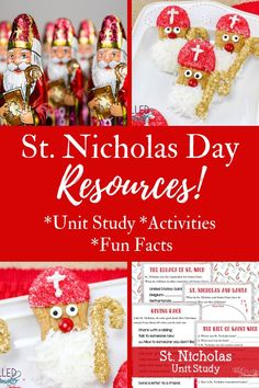 Who was the real St Nicholas? Come join us as we learn with fun facts, a unit study, and tasty kid approved treats to learn more about December the German Christmas, A Christmas Story, Christmas Holidays, Christmas Ideas, Advent For Kids, Crafts For Kids, Advent Ideas, Childrens Christmas, Toddler Christmas