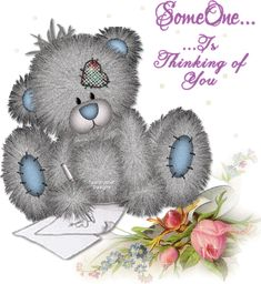 Tatty Bear, Someone is Thinking of You gif Teddy Bear Quotes, Teddy Bear Images, Teddy Bear Pictures, Thinking Photos, Thinking Of You, Tatty Teddy, Hugs And Kisses Quotes, Joy And Sadness, Glitter Images