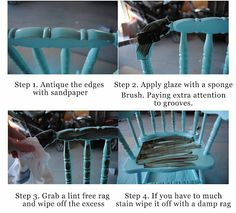 Visual Eye Candy: Learn How To Glaze Furniture Glazing Furniture, Diy Furniture Projects, Paint Furniture, Upcycled Furniture, Furniture Making, Restoring Furniture, Furniture Refinishing, Diy Rustic Decor, Cleaning Wood