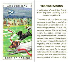Ardbeg playing card -Terrier Racing