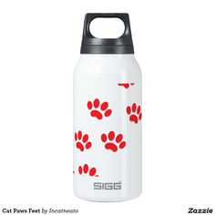 Cat Paws Feet Insulated Water Bottle