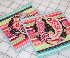 Cute quilted drink coasters