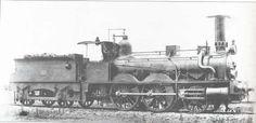 """locomotora a vapor ,La locomotora """"Mansilla"""" (nº 57 de Norte) que era idéntica a la """"Reliegos"""" (nº 63 de Norte). Foto del álbum Norte de 1907, del libro """"Las locomotoras de Norte"""" de Gustavo Reder"""