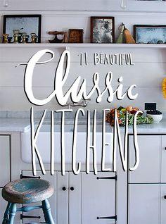 11 Beautiful and Classic Kitchens #kitchen #design #kitchens