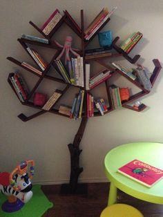 Tree Bookshelf by CraftManBill on Etsy, $250.00