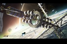 VALHALLA SPACE STATION by Albert Ramon Puig | Sci-Fi | 3D | CGSociety