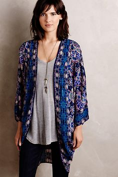 I love the colors, cut, and material of this cardigan.