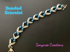 Lovely Hearts Bracelet. DIY Beaded Bracelet. How to make beaded Bracelet - YouTube