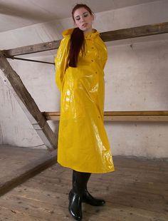 Gummiregnfrakke Regnjakke til
