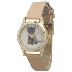 Olivia Pratt Cute Animals Faux Leather Watch
