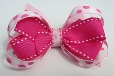 Little Girl Boutique Looped Hot Pink Polka Dot by kittygatotreats, $8.00