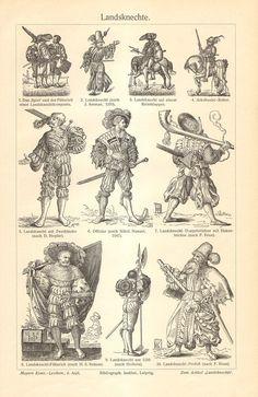 Ethnographic Arms & Armour - Katzbalgers and Related Landsknecht Swords Larp, Renaissance, Arm Armor, Horse Armor, Landsknecht, Historical Art, Historical Clothing, Antique Prints, 16th Century