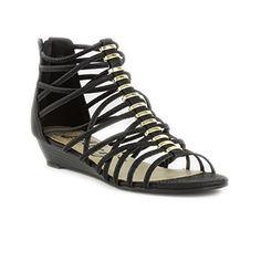 27584cdaedec Lilley Womens Black Reptile Print Gladiator Sandal - Size 3 - Black