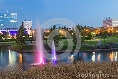 Evening Fountains In Donetsk Park - Download From Over 23 Million High Quality Stock Photos, Images, Vectors. Sign up for FREE today. Image: 40772428