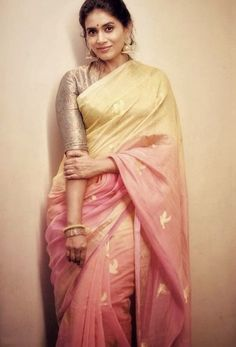 deol Elegant Indian Saris Click Visit link above to see Indian Dresses, Indian Outfits, Pakistani Outfits, South Indian Sarees, Indian Saris, Indian Attire, Indian Wear, Indian Style, Brocade Blouses