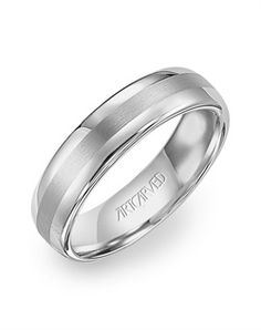 Aurora, by ArtCarved.  Can't forget the guys out there. Tungsten band with a satin finish inlay.  www.gembycarati.com  www.facebook.com/gembycarati