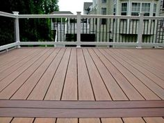 Vinyl Patio Deck With Wide Steps Using Wolf Pvc Decking