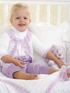 Baby Jacket and Blanket | Yarn | Free Knitting Patterns | Crochet Patterns | Yarnspirations