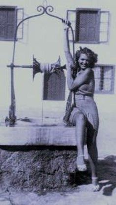 Melina Mercouri Greek actress, icon and politcian. A classic Greek setting.