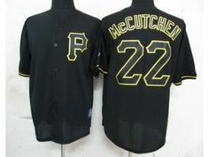 mlb pirates 22 andrew mccutchen black fashion stitched jersey