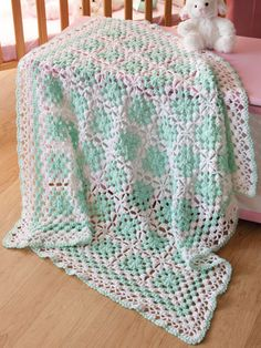 """Crochet baby blanket pattern from Annie's """"Beautiful Bullions"""" pattern book. Go here to order: http://www.anniescatalog.com/detail.html?prod_id=92001"""