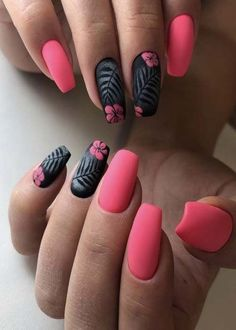 Pretty & Easy Gel Nail Designs to copy in 2019 - . Pretty & Easy Gel Nail Designs to copy in you want to create an interesting yet stylish look for your nails, you should consider white nail. Spring Nail Art, Nail Designs Spring, Spring Nails, Matte Nail Designs, Summer Toenails, Red Matte Nails, Matte Nail Polish, Acrylic Nails, Coral Nails