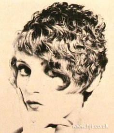 1969 short curls hairstyle  Short hair was curly through the top with slightly longer sides and fringe     Hairstyle by: Roger Thompson  Salon: Vidal Sassoon