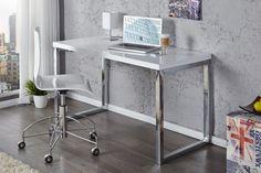 """Design Schreibtisch WHITE DESK 120cm hochglanz weiss - Der Schreibtisch ist in der heutigen Zeit, mehr als nur ein funktionals Möbelstück am Arbeitsplatz. Unser Schreibtisch """"WHITE DESK"""" präsentiert s"""