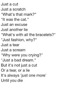 Will my scars ever heal and those on my arm ever fade..
