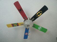 Super hero bedroom-playroom ceiling fan
