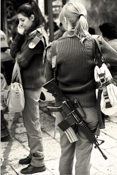 In Israel schoolteachers carry around guns for safety.
