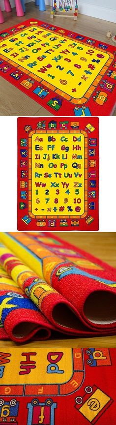 Rugs 154001: Kids Baby Room Daycare Classroom Playroom Area Rug. Alphabet.  Numbers.