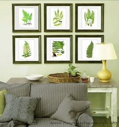 Botanical Wall Art vintage ferns botanical print set no. 1 | // art projects