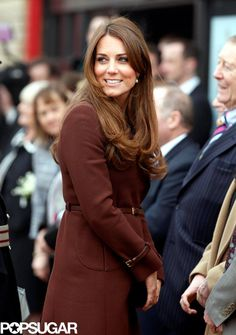 Kate Middleton Bundles Up Her Baby Bump For a Visit to Grimsby: Kate Middleton smiled at the crowd.  : Kate Middleton toured Grimsby, England.