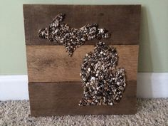 Local Homemade Wooden Pallet Sign with Lake Michigan by KBRSigns, $40.00