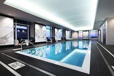 Quartz Crystal Spa™ Lap Pool at Trump International Hotel & Tower Toronto®. Luxury Swimming Pools, Luxury Pools, Indoor Swimming Pools, Swimming Pool Designs, Lap Pools, Pool Spa, Hotel Pool, Spa Spa, Infinity Pools