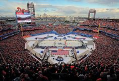 No, there's nothing wrong with your screen. Citizens Bank Park was actually converted to an ice rink. CBP played host to the 2012 Bridgestone NHL Winter Classic on January 2, 2012 when the Philadelphia Flyers faced the New York Rangers.