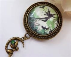 cute brooch with fairy fantasy
