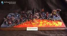 Khorne Week #8 Lake of Fire ~ DEN OF IMAGINATION Miniature Painting Service