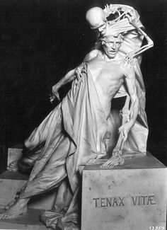 Tenax Vitae, Rinaldo Carnielo. ,,This sculpture seems devastating and powerful amongst the death upon millions of people at the time. 'Death is catching up on people'