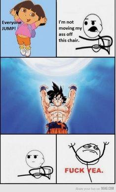 He needs us! get up nows! (Goku needs us to defeat kid Majin Buu on DBZ) Dragonball Evolution, Memes Dbz, Funny Memes, Goku Meme, Real Memes, Jokes, Funny Videos, Hilarious, Dragonball Super