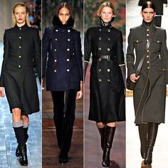 Fashion Trends From the Fall 2012 Military Coats