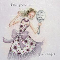 "Cards "" Daughter "" - Berni Parker Designs ღ✟ Greeting Card Companies, Greeting Cards, Illustrations, Illustration Art, Creation Photo, Whimsical Art, Knitted Blankets, My Sunshine, Cute Art"