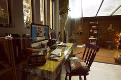 Zans's Office SOLARIUM // #workplace #decor #wood #decoration #inspiration #fuzzy
