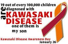 My son had Kawasaki Disease and now lives with an aneurysm. Dilated Cardiomyopathy, Kawasaki Disease, Organ Donation, Type 1 Diabetes, Awareness Ribbons, A 17, Heart Disease, Favorite Quotes, To My Daughter